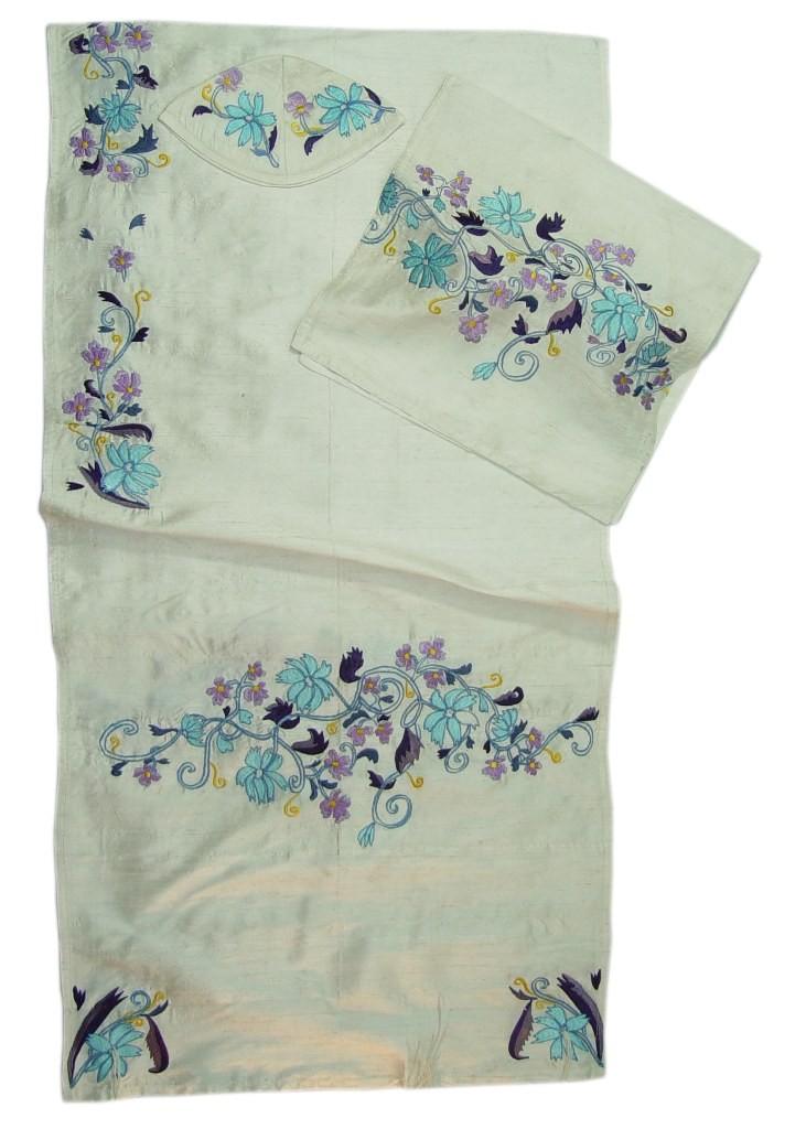 Elimelech Tallits Flowers Silk Tallit